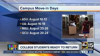 College students spend weekend moving into dorms - Video