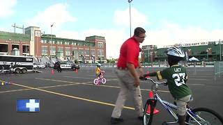 'Bike Rodeo' promotes bicycle safety at Lambeau Field - Video