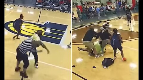 Referee is BODY- SLAMMED at girls AAU basketball tournament