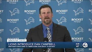 Lions introduce new head coach Dan Campbell