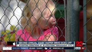 Second annual 23ABC Diaper Drive underway - Video