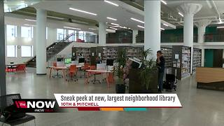 Milwaukee Public Library to open newest, largest neighborhood library - Video