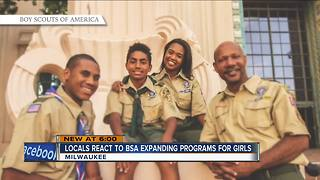 Locals react to Boy Scouts expanding to include girls - Video