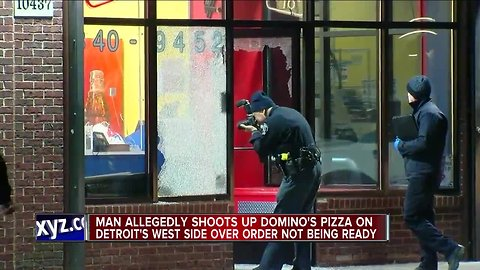 Man allegedly shoots up Domino's Pizza in Detroit over order not being ready