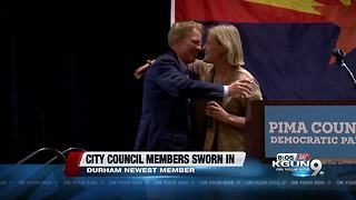 Tucson's newest city council member, returning members were sworn in - Video