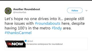 Twitter account mocks Carmel roundabout construction