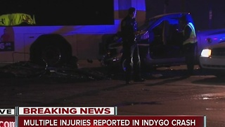 Multiple injuries reported in IndyGo bus crash - Video