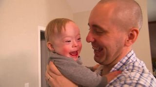 First baby with Down syndrome chosen as Gerber baby of the year - Video