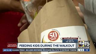 St. Mary's Food Bank helping feed students during teacher walkout - Video