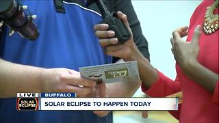 """Buffalo State College sets up for """"Eclipse View and Do"""" Party"""