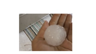 Texas Kid Thrilled By Tennis Ball Sized Hail During Storm - Video