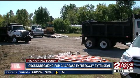 Construction kicks off in west Tulsa of new turnpike at Gilcrease Expressway