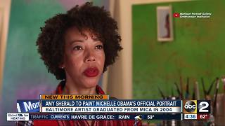 Baltimore artist to paint official portrait of Michelle Obama - Video