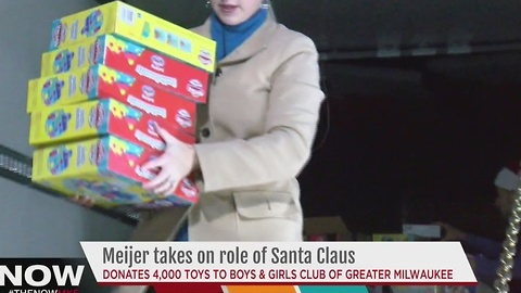 Meijer donates more than 4,000 toys to the Boys & Girls Clubs of Greater Milwaukee