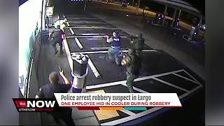 Largo Police arrest armed robbery suspect leaving convenience store - Video