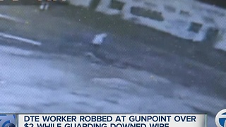 DTE Energy employee robbed at gunpoint on Detroit's west side, thief got away with only $2 - Video