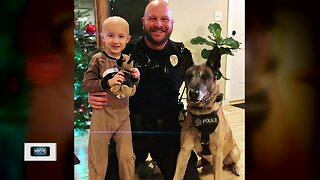 Special friendship between a boy and a police officer