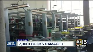 Thousands of books ruined at Phoenix library - Video