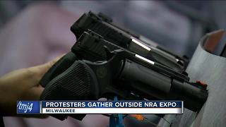 NRA Conceal Carry Expo prompts protest - Video