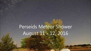 Perseids Meteor Shower - Blink and you Might Miss it - Video