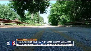 Sand Springs kids say they were almost kidnapped - Video