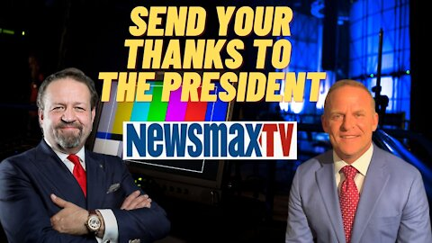 Send your thanks to the President. Sebastian Gorka with Grant Stinchfield on Newsmax