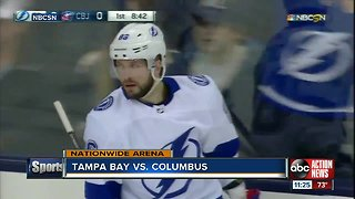 Nikita Kucherov has 5 points, Tampa Bay Lightning beat Columbus Blue Jackets 5-1