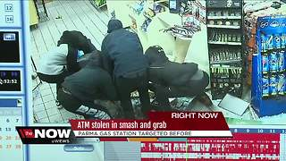 Parma gas station owner says he won't re-install ATM after smash and grab - Video
