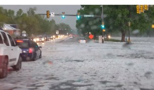 Thunderstorm Drops Hail, Floods Colorado Streets - Video