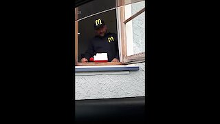 Parents re-create McDonald's drive-through experience