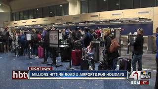 Millions hitting highway, KCI ahead of Thanksgiving holiday weekend - Video