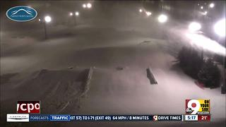 Perfect North Slopes snow is piling up - Video