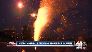 KC hospitals already seeing fireworks injuries - Video