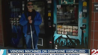 Vending machines ran by Bakersfield blind man burglarized - Video