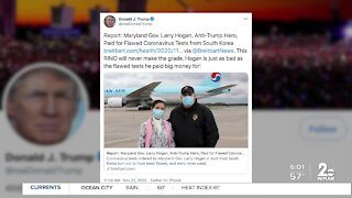 President Trump and Gov. Hogan exchange words on Twitter