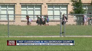 Air conditioning woes continue in schools across Hillsborough County - Video