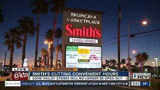 Smith's grocery store cutting hours - Video