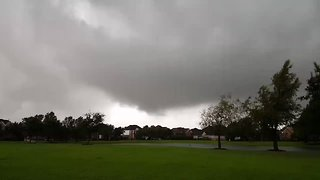 Funnel Cloud Swirls Near Tornado-Warned Cypress - Video