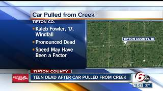 17-year-old killed after vehicle crashes into Tipton County creek - Video