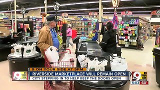 Riverside Marketplace will remain open