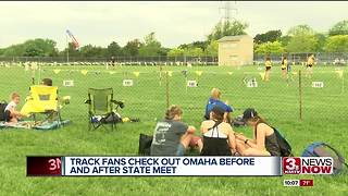 Track fans check out Omaha before and after state meet - Video