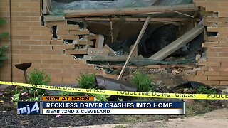 Reckless driver crashes into home near 72nd & Cleveland