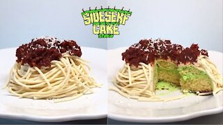How to make a realistic spaghetti cake