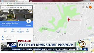 Police: Lyft driver stabbed passenger - Video