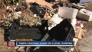 Tampa sees uptick in illegal dumping after Hurricane Irma - Video