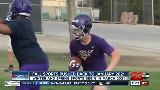 Fall sports pushed back to January 2021