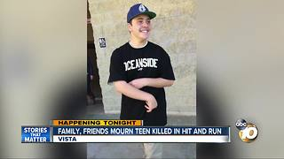 Family, friends mourn teen killed in Vista