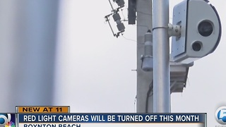 Red light cameras will be turned off this month