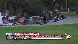 Palomar College becomes an evacuation center - Video