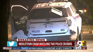 Middletown crash involving two police cruisers